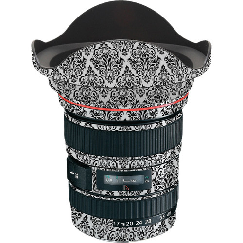 LensSkins Lens Wrap for Canon 17-40mm f/4L (BW Damask)