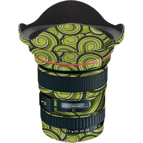 LensSkins Lens Skin for the Canon 17-40 f/4 EF USM Lens (Green Swirl)
