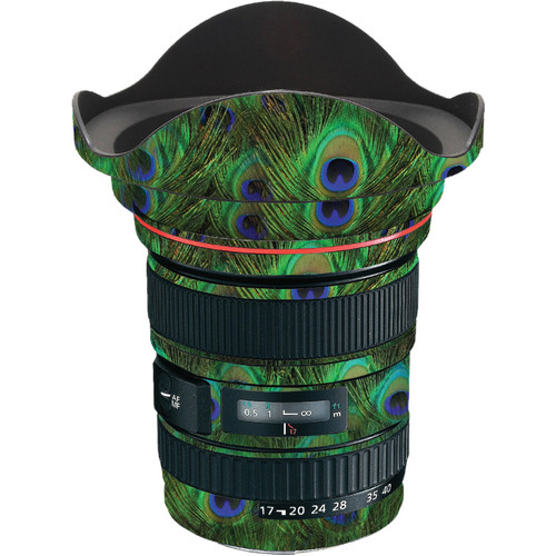 LensSkins Lens Skin for the Canon 17-40 f/4 EF USM Lens (Peacock Bliss)