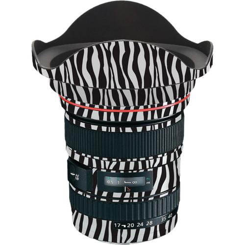 LensSkins Lens Wrap for Canon 17-40mm f/4L (Zebra (Wild Child))