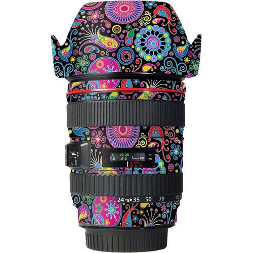 LensSkins Lens Skin for the Canon 24-105mm f/4L IS EF USM Lens (Carnival Flair)