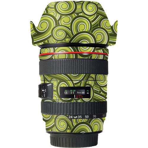 LensSkins Lens Skin for the Canon 24-105mm f/4L IS EF USM Lens (Green Swirl)