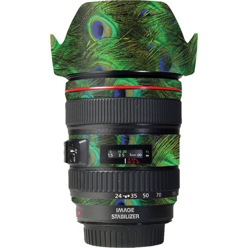 LensSkins Lens Skin for the Canon 24-105 f/4L IS EF USM Lens (Peacock Bliss)