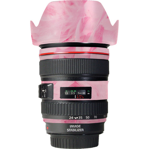 LensSkins Lens Skin for the Canon 24-105 f/4L IS EF USM Lens (Tickled Pink)
