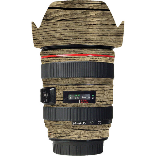 LensSkins Lens Wrap for Canon 24-105mm f/4L IS (Woodie)