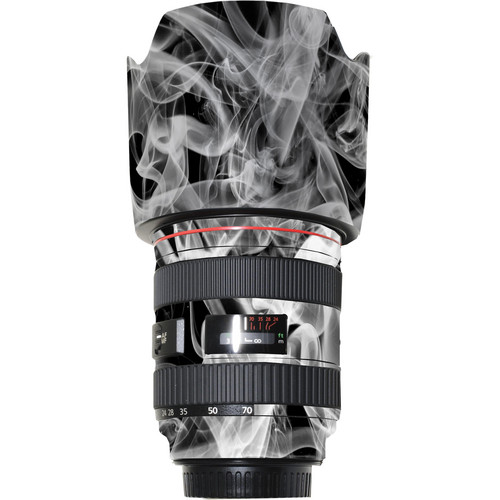 LensSkins Lens Wrap for Canon 24-70mm f/2.8L (Black and White Smoke)