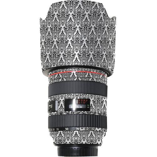 LensSkins Lens Wrap for Canon 24-70mm f/2.8L (BW Damask)