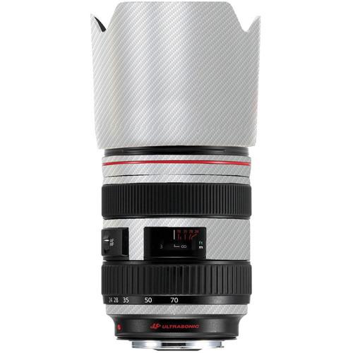 LensSkins Lens Skin for the Series 1 Canon 24-70mm f/2.8L Lens (White Carbon Fiber)