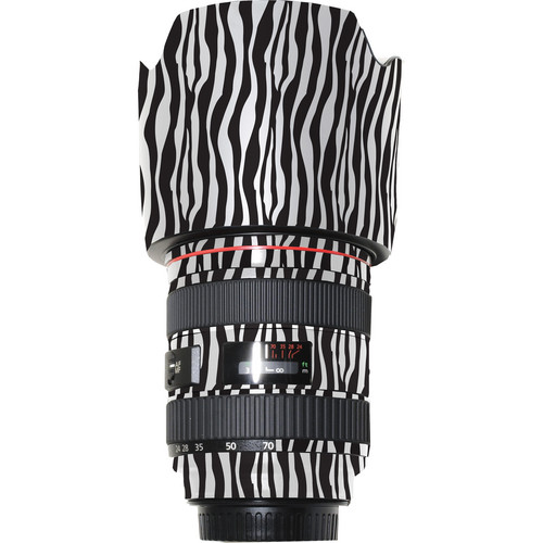 LensSkins Lens Wrap for Canon 24-70mm f/2.8L (Zebra (Wild Child))