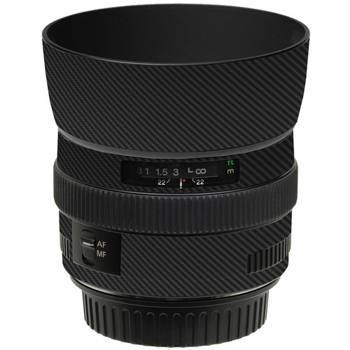 LensSkins Lens Skin for the Canon 50mm f/1.4 USM Lens (Black Carbon Fiber)