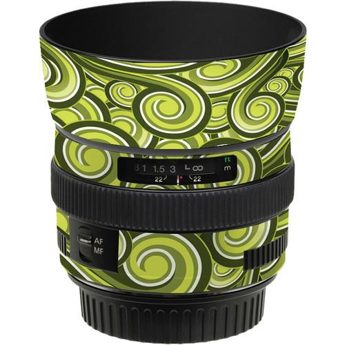 LensSkins Lens Skin for the Canon 50mm f/1.4 USM Lens (Green Swirl)