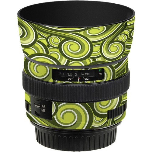 LensSkins Lens Skin for the Canon 50mm f/1.4 USM Lens (Green Swirl)