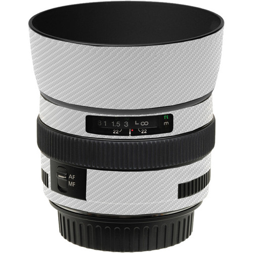 LensSkins Lens Skin for the Canon 50mm f/1.4 USM Lens (White Carbon Fiber)