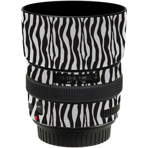 LensSkins Lens Wrap for Canon 50mm f/1.4 (Zebra (Wild Child))