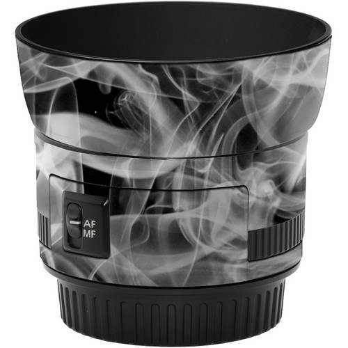 LensSkins Lens Wrap for Canon 50mm f/1.8 II (Black and White Smoke)