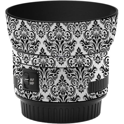 LensSkins Lens Wrap for Canon 50mm f/1.8 II (BW Damask)