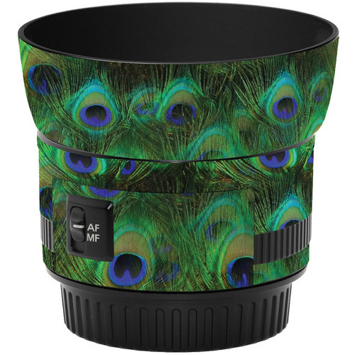 LensSkins Lens Skin for the Canon 50mm f/1.8 II Lens (Peacock Bliss)