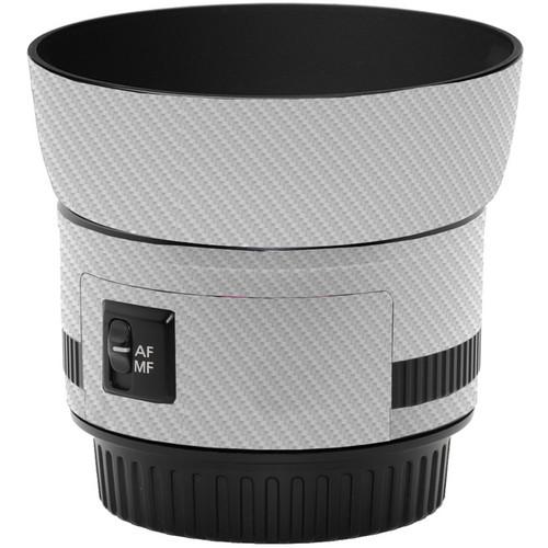 LensSkins Lens Skin for the Canon 50mm f/1.8 II Lens (White Carbon Fiber)