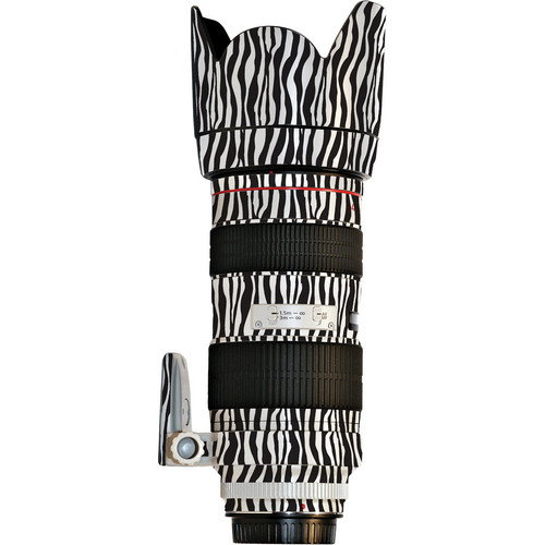 LensSkins Lens Wrap for Canon 70-200mm f/2.8L IS (Zebra (Wild Child))