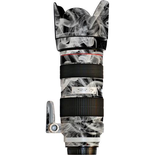 LensSkins Lens Wrap for Canon 70-200mm f/2.8L II (Black and White Smoke)