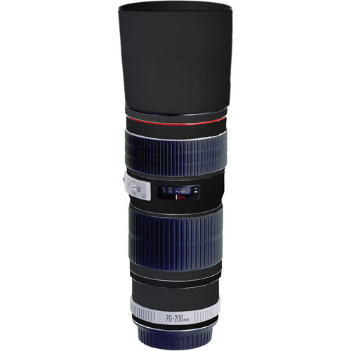 LensSkins Lens Skin for the Canon 70-200mm f/4 Non IS Lens (Black Carbon Fiber)