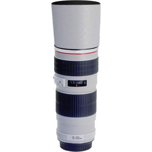 LensSkins Lens Skin for the Canon 70-200mm f/4 Non IS Lens (White Carbon Fiber)