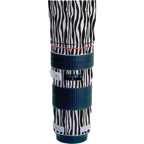 LensSkins Lens Wrap for Canon 70-200mm f/4L (Zebra (Wild Child))