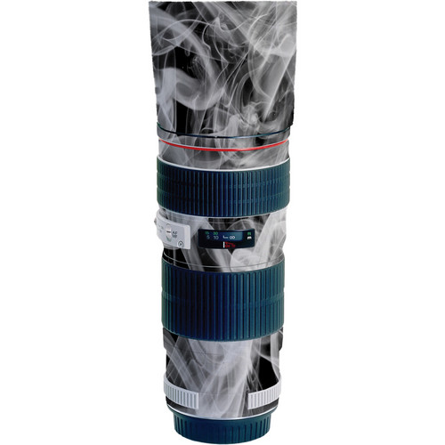 LensSkins Lens Wrap for Canon 70-200mm f/4L IS (Black and White Smoke)