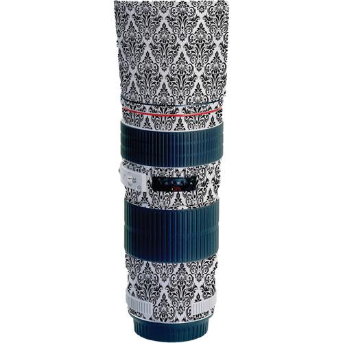 LensSkins Lens Wrap for Canon 70-200mm f/4L IS (BW Damask)