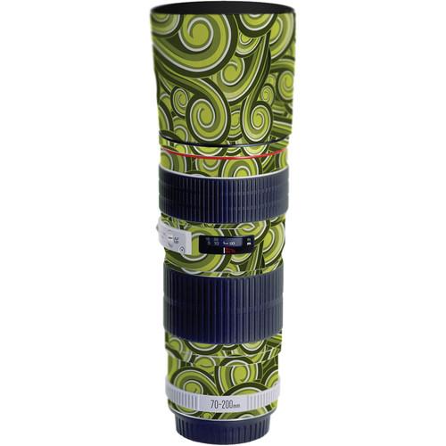 LensSkins Lens Skin for the Canon 70-200mm f/4L EF USM Lens (Green Swirl)