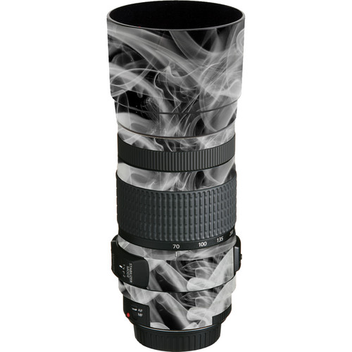 LensSkins Lens Wrap for Canon 70-300mm f/4-5.6 (Black and White Smoke)
