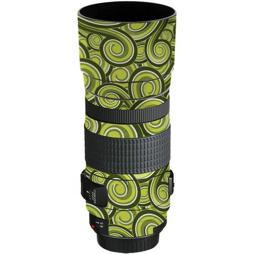 LensSkins Lens Skin for the Canon EF 70-300mm f/4-5.6 IS USM Lens (Green Swirl)