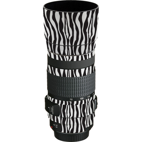 LensSkins Lens Wrap for Canon 70-300mm f/4-5.6 (Zebra (Wild Child))