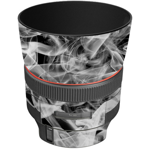 LensSkins Lens Wrap for Canon 85mm f/1.2L II (Black and White Smoke)