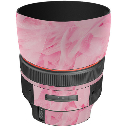 LensSkins Lens Skin for the Canon 85mm f/1.2L II EF USM Lens (Tickled Pink)