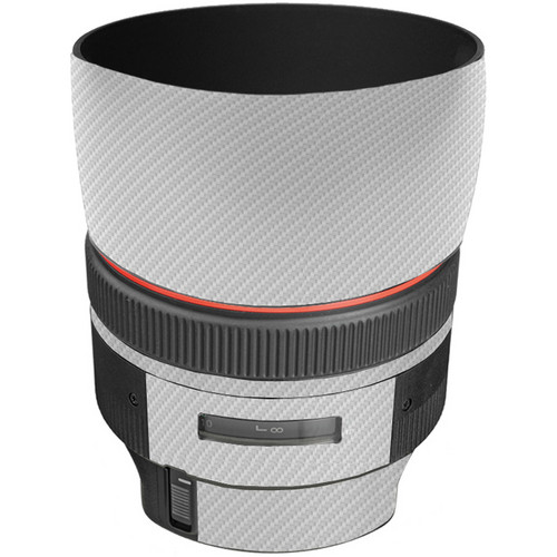 LensSkins Lens Skin for the Canon 85mm f/1.2L II EF USM Lens (White Carbon Fiber)