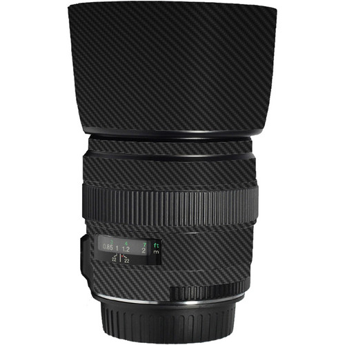 LensSkins Lens Skin for the Canon 85mm f/1.8 EF USM Lens (Black Carbon Fiber)