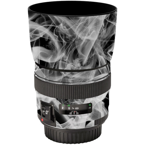 LensSkins Lens Wrap for Canon 85mm f/1.8 (Black and White Smoke)