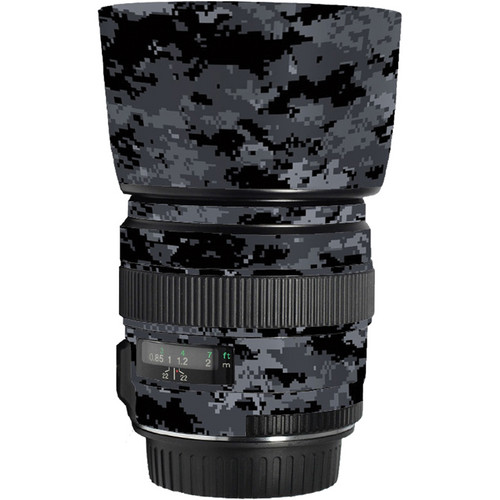 LensSkins Lens Skin for the Canon 85mm f/1.8 EF USM Lens (Dark Camo)
