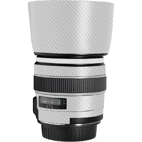 LensSkins Lens Skin for the Canon 85mm f/1.8 EF USM Lens (White Carbon Fiber)