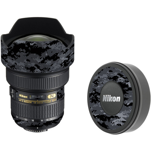LensSkins Lens Skin for the Nikon 14-24mm f/2.8G AF-S ED Lens (Dark Camo)