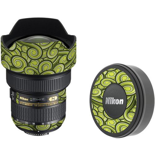 LensSkins Lens Skin for the Nikon 14-24mm f/2.8G AF-S ED Lens (Green Swirl)
