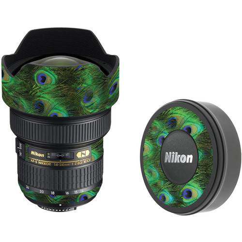 LensSkins Lens Skin for the Nikon 14-24mm f/2.8G AF-S ED Lens (Peacock Bliss)