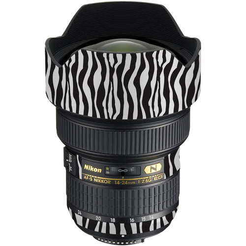 LensSkins Lens Wrap for Nikon 14-24mm f/2.8G (Zebra (Wild Child))