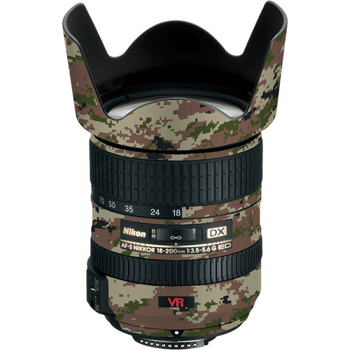 LensSkins Lens Skin for the Nikon 18-200mm f/3.5-5.6G AF-S IF-ED DX VR Lens (Camo)
