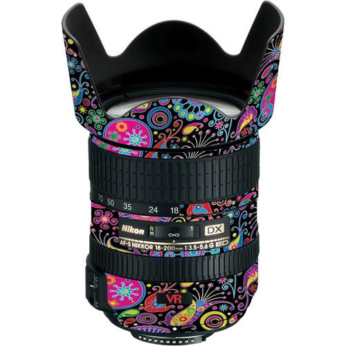 LensSkins Lens Skin for the Nikon 18-200mm f/3.5-5.6G AF-S IF-ED DX VR Lens (Carnival Flair)