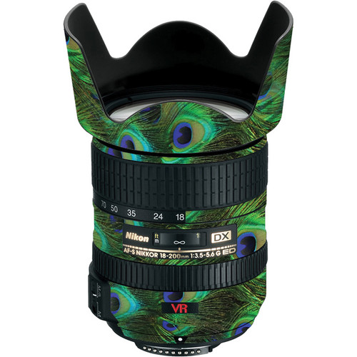 LensSkins Lens Skin for the Nikon 18-200mm f/3.5-5.6G AF-S IF-ED DX VR Lens (Peacock Bliss)