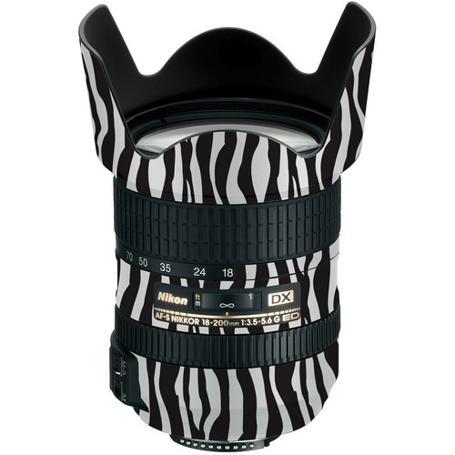 LensSkins Lens Wrap for Nikon 18-200mm f/3.5-5.6G (Zebra (Wild Child))