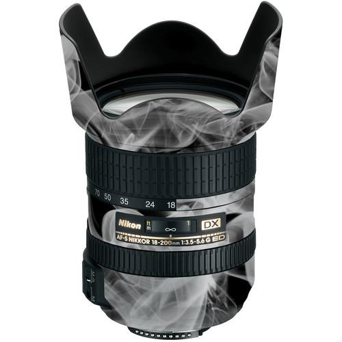 LensSkins Lens Wrap for Nikon 18-200mm f/3.5-5.6G II (Black and White Smoke)