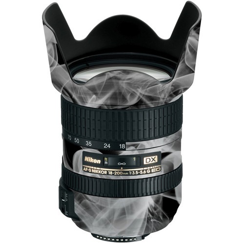 LensSkins Lens Wrap for Nikon 18-200mm f/3.5-5.6G II (Black and White Smoke)